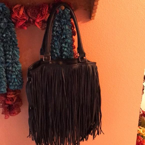 unknown Handbags - Big fringe hobo bag